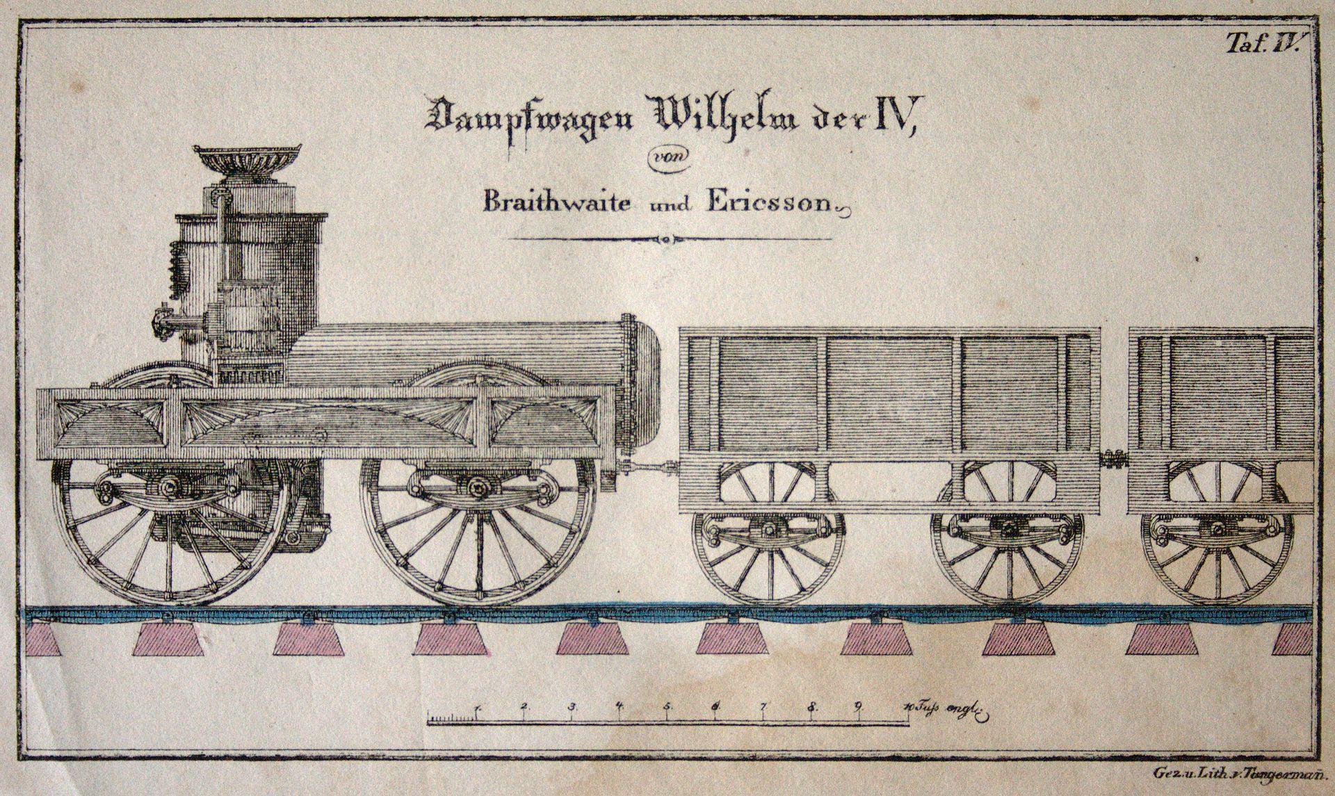 locomotive wilhelm iv dampfwagenwilhelmderiv
